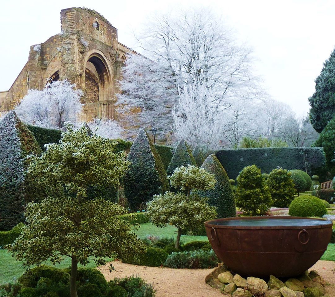 Landscape of house garden  Malmesbury Abbey Gardens u House  Landscape design  Pinterest