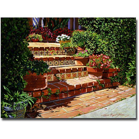 "Trademark Art ""A Spanish Garden"" Canvas Wall Art by David Lloyd Glover - Walmart.com"