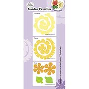 ConsumerCrafts Product Quilled Creations Quilling Dies: Garden Favorites Flower Die Cuts