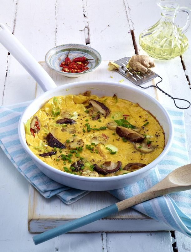 Unser beliebtes Rezept für Asiatisches Pilz-Omelett und mehr als 55.000 weitere kostenlose Rezepte auf LECKER.de.