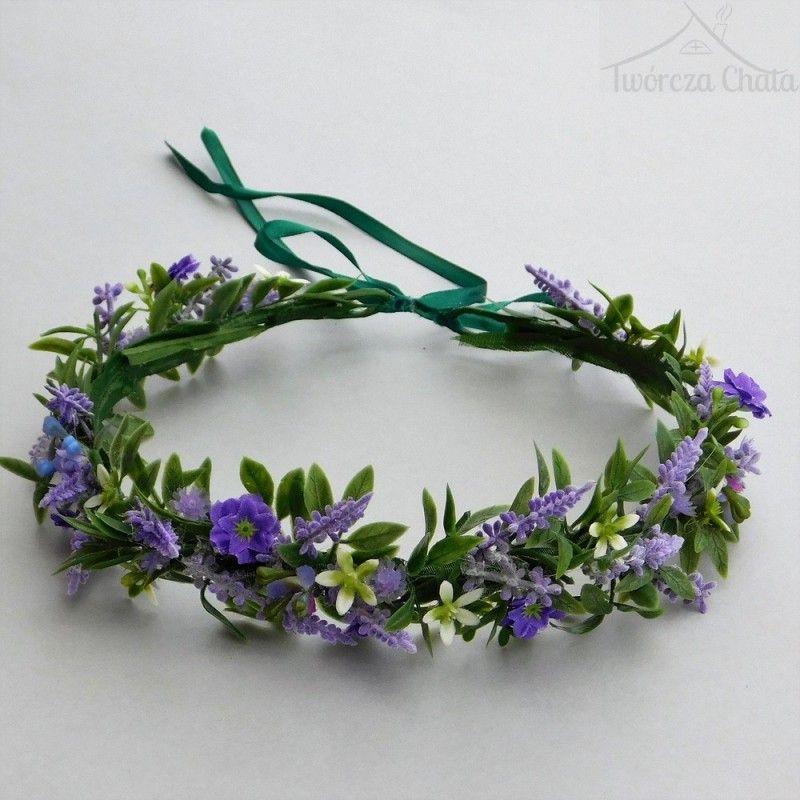 Wianek Slubny Na Glowe Wianek Kwiatowy Wrzos Fioletowy Ozdoba Na Wlosy Dream Wedding Wedding Crown