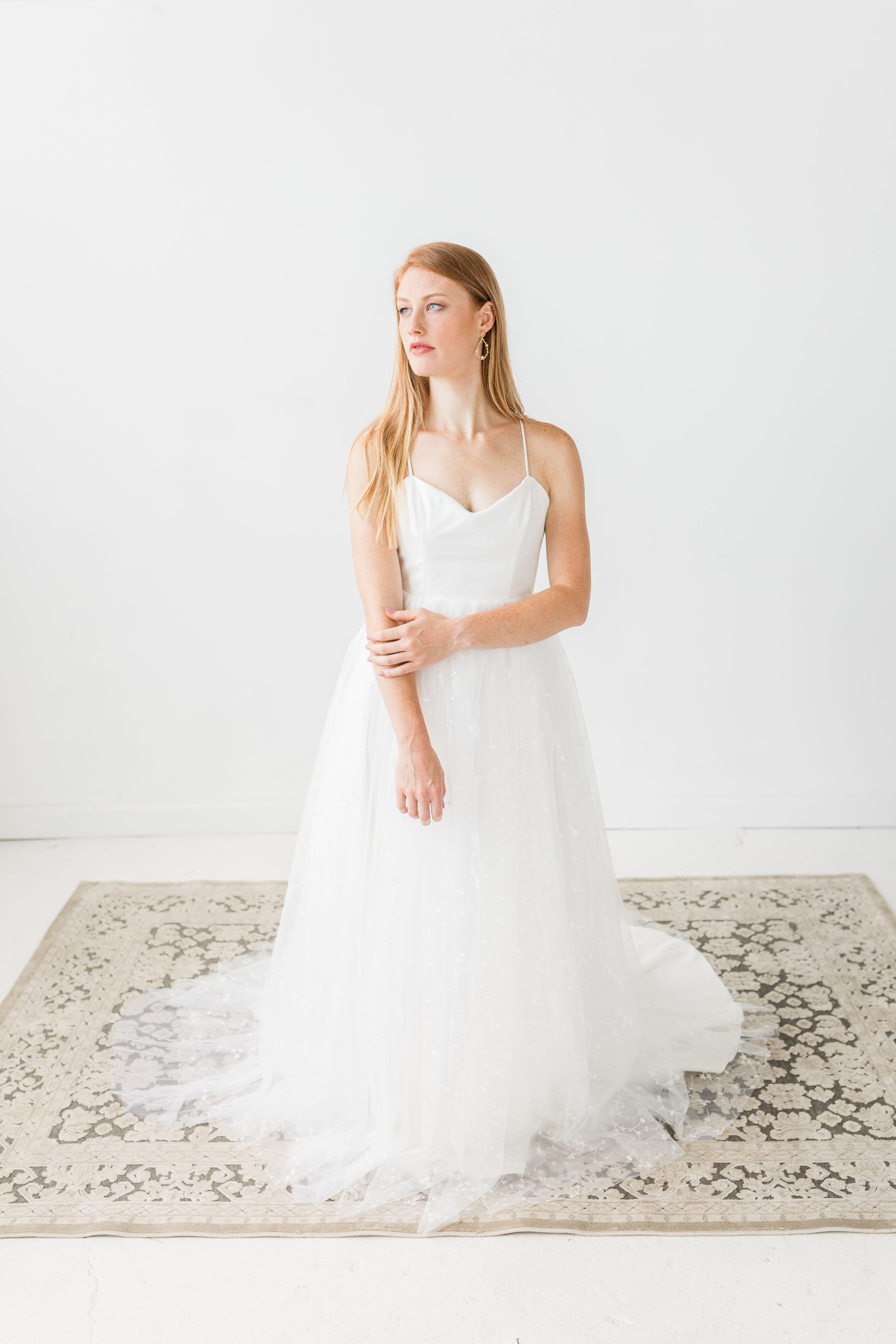 From Hyacinth Bridal S 2019 Collection Creative Director Stylist And Planner Perry Rose Media Photogr Crepe Wedding Dress Wedding Dresses Romantic Dress