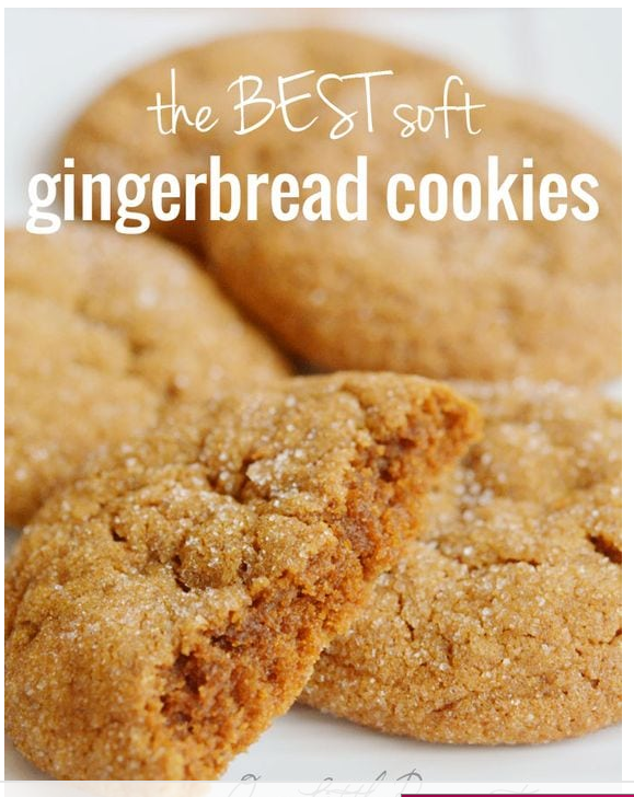 BEST Soft Gingerbread Cookies Recipe Soft gingerbread
