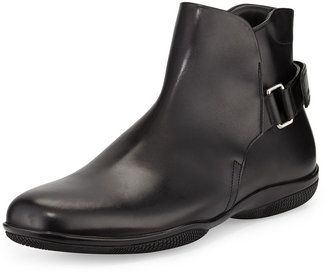Prada Chelsea Grip-Strap Boot, Black