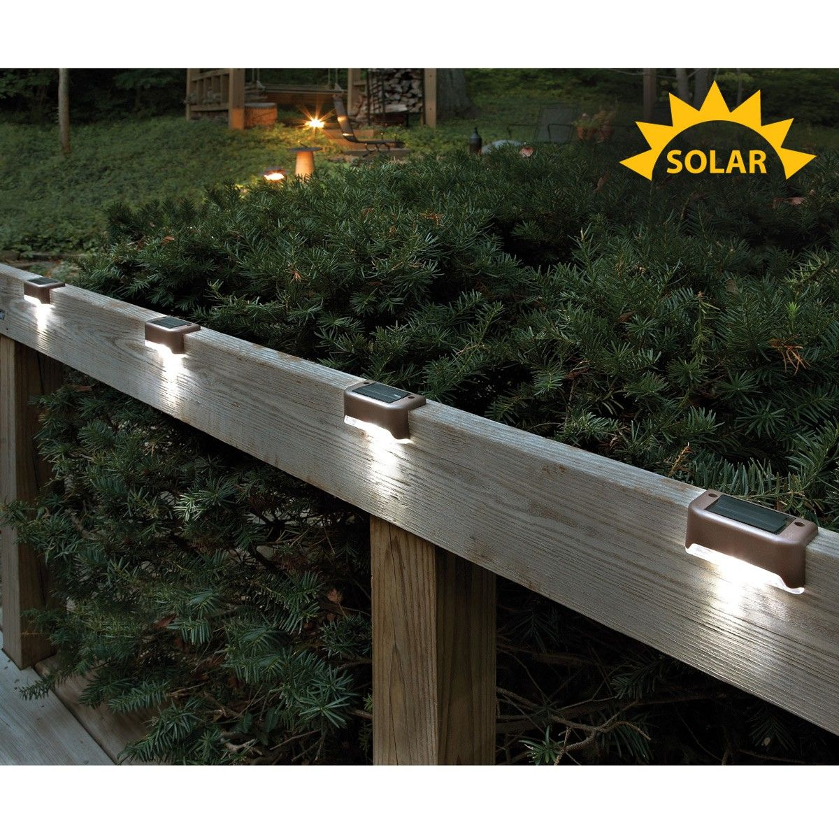 Solar led deck lights set of 4 solar led solar and decking solar led deck lights set of 4 aloadofball Images