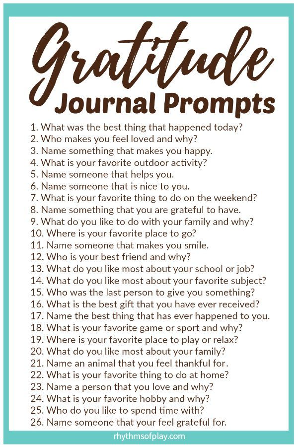 FREE Printable Gratitude Journal Prompts - Thankfulness and gratefulness can increase feelings of happiness and well-being. Use printable gratitude prompt template ideas to help kids and adults notice everything they have to be grateful for, and, learn to practice and express gratitude for life! | #Gratitude #JournalPrompts #GratitudeJournal #GratitudeActivities #Thankful #Thankfulness #Thanksgiving