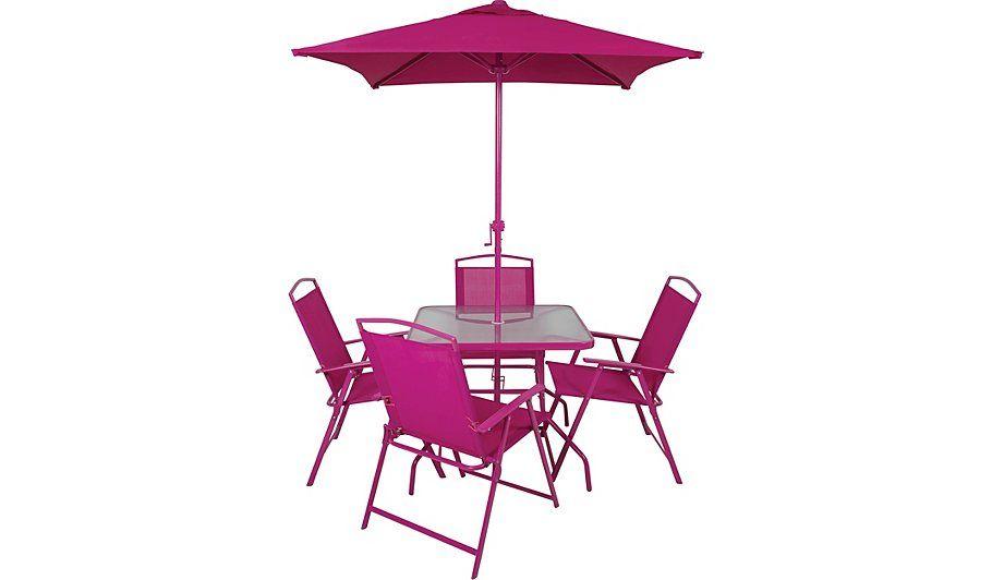 Pink Garden Furniture Miami 6 piece patio set fuchsia garden furniture and patios bought miami 6 piece patio set fuchsia garden furniture george at asda workwithnaturefo