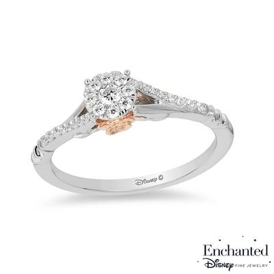 Zales 1/15 CT. T.w. Composite Diamond Criss-Cross Engagement Ring in 10K White Gold eSvHa