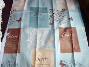Inspiration Butterfly Blessings Fabric Shower Curtain Butterfly