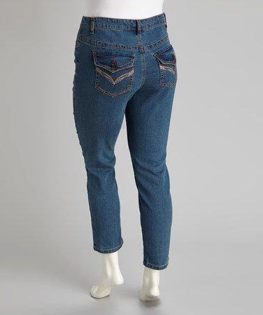 Take a look at this Blue Plus-Size Jeans by Jeanbay on #zulily today! $14.99, regular 30.00