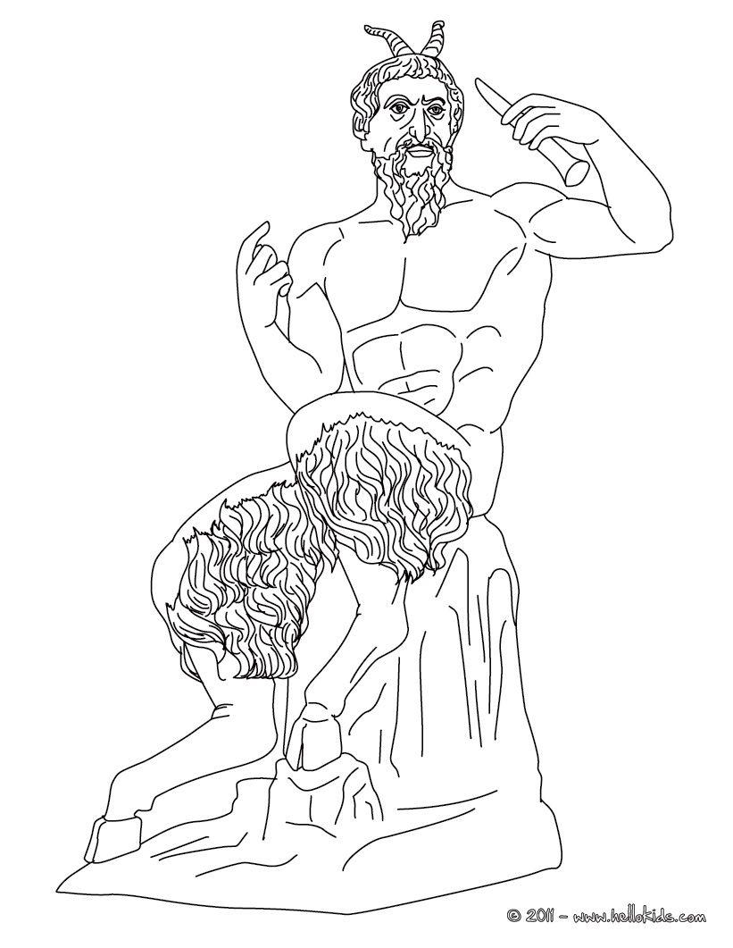 Greek Gods Coloring Pages Pan Greek God Of The Wild Greek Gods