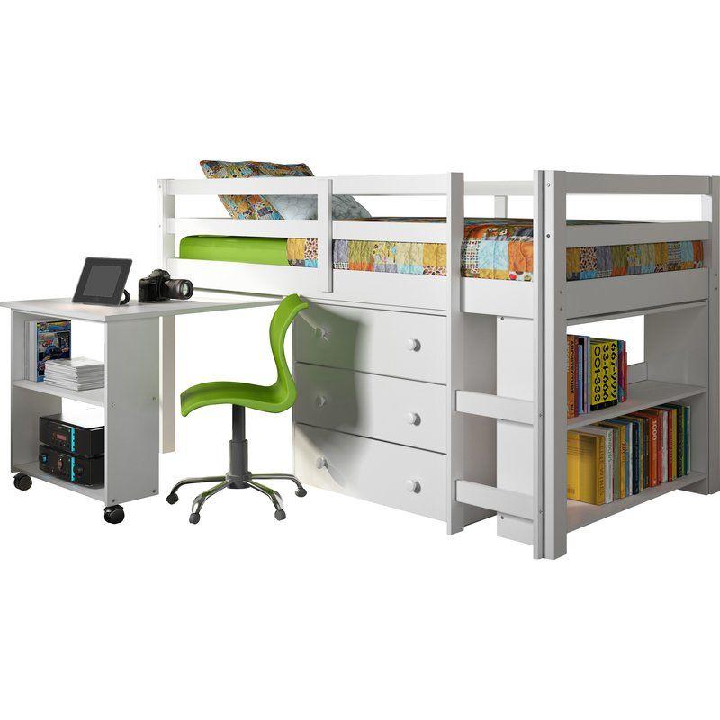 Best Zechariah Twin Low Loft Bed With Storage Low Loft Beds 400 x 300