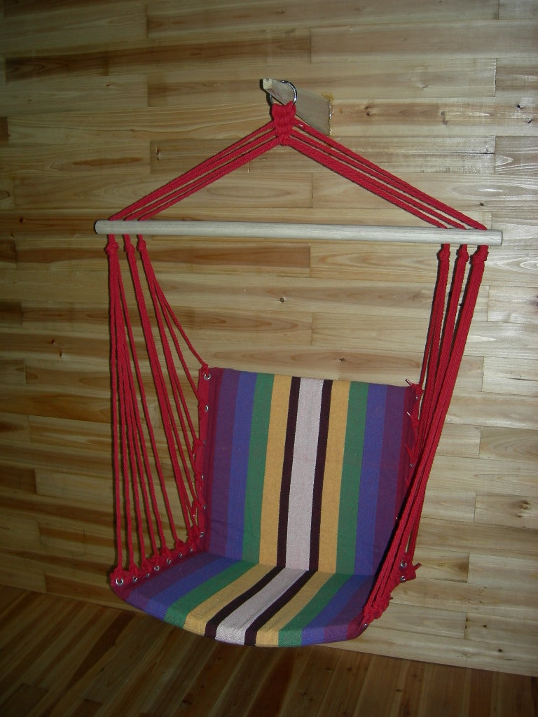69.00$  Watch now - http://ali3kc.worldwells.pw/go.php?t=32611929287 - High quality Canvas Patio Swings Chromatic stripe hanging chair 69.00$