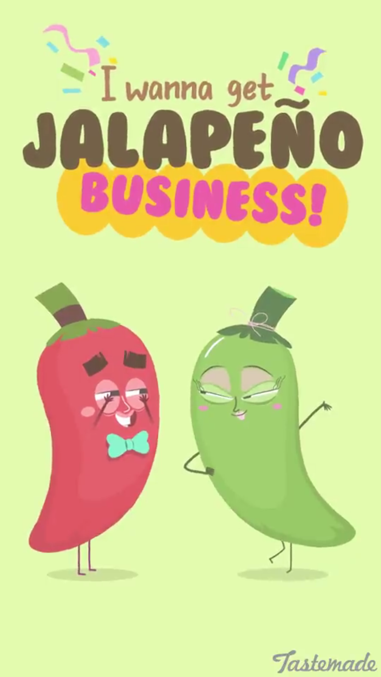 Tastemade food illustration on snapchat Corny puns