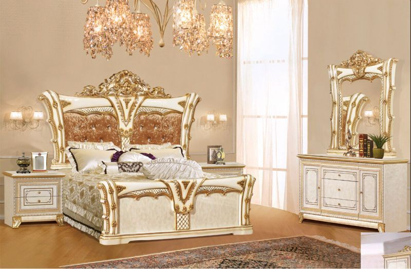 Luxury Suite Bedroom Furniture Of Europe Type Style Including 1 Bed 2 Bedside Table Chest