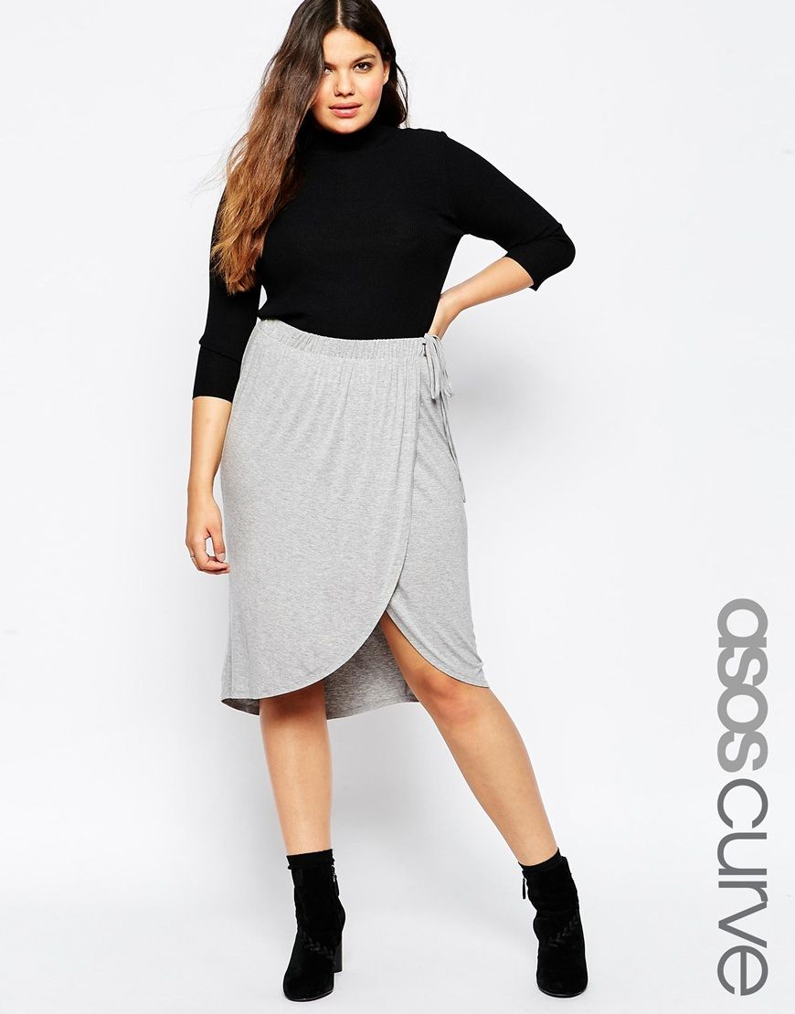official shop popular brand where can i buy CURVE Soft Wrap Pencil Skirt | plus size clothing | Asos ...