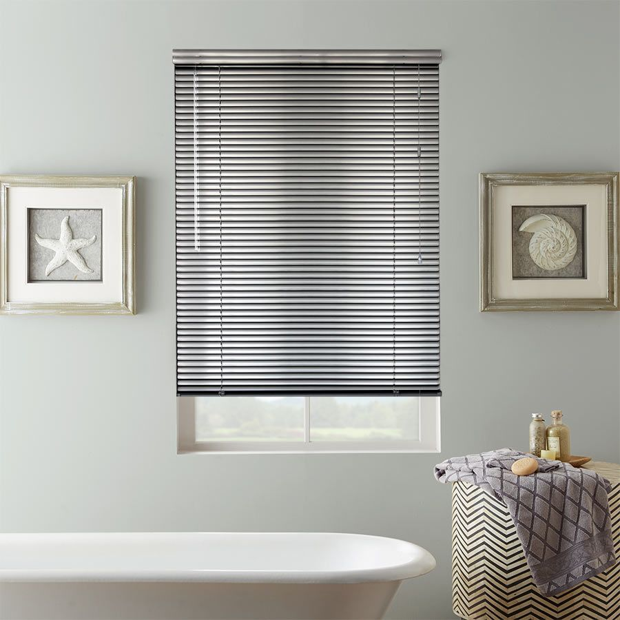 1 Essential Aluminum Mini Blinds Selectblinds Com Aluminum Blinds Blinds For Bathroom Windows Faux Wood Blinds