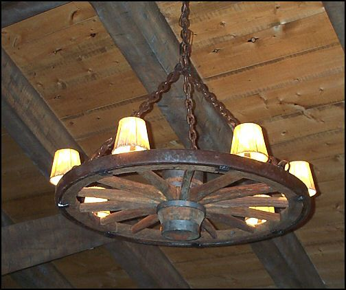 Wagon wheel light fixture for your home light decorating ideas this would also work with the ships wheel wagon wheel chandelier wild west style interior design tips home decoration zimbio mozeypictures Gallery