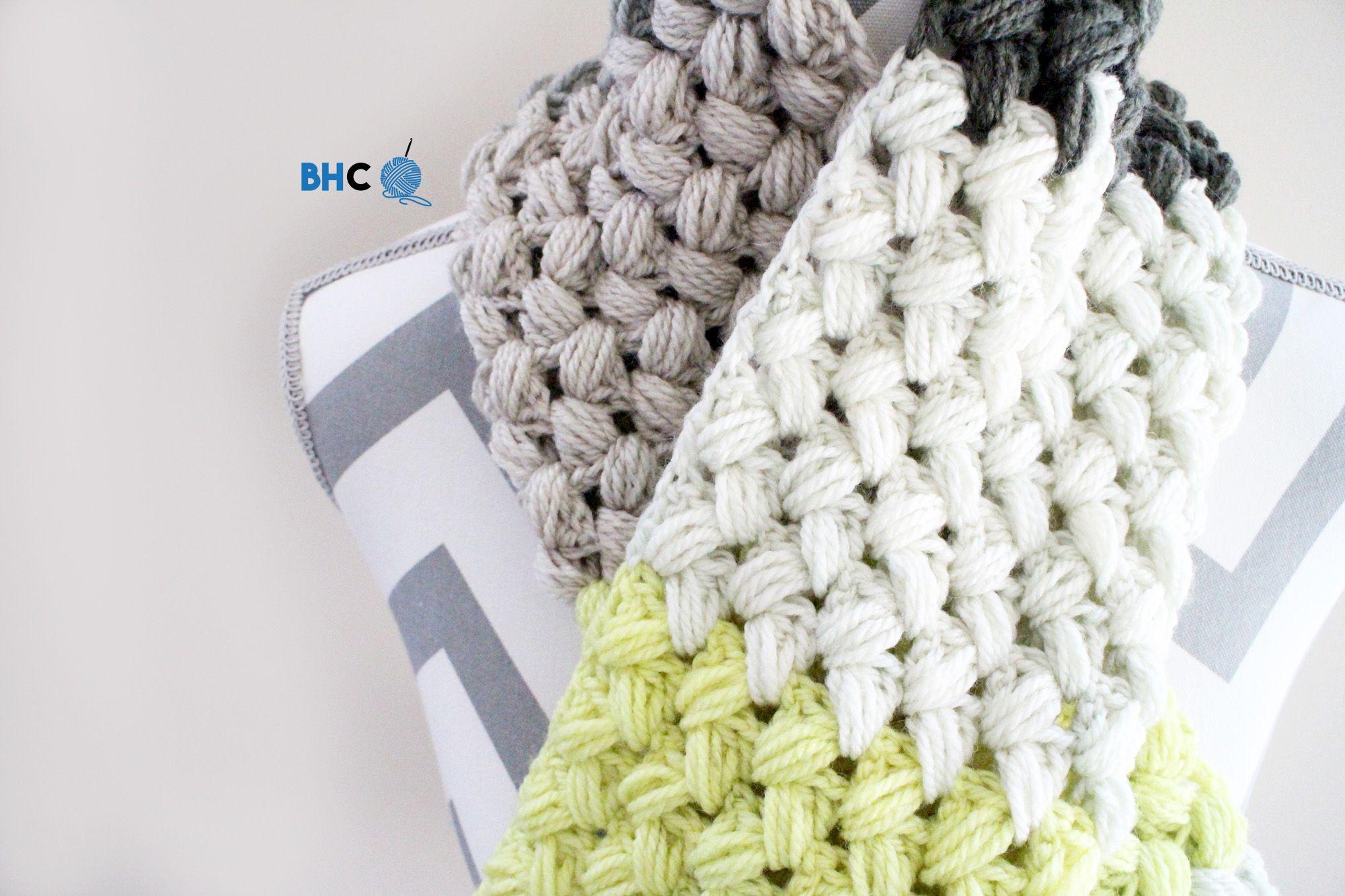 Zig Zag Puff Stitch Scarflette - Free Pattern & Tutorial | Pinterest