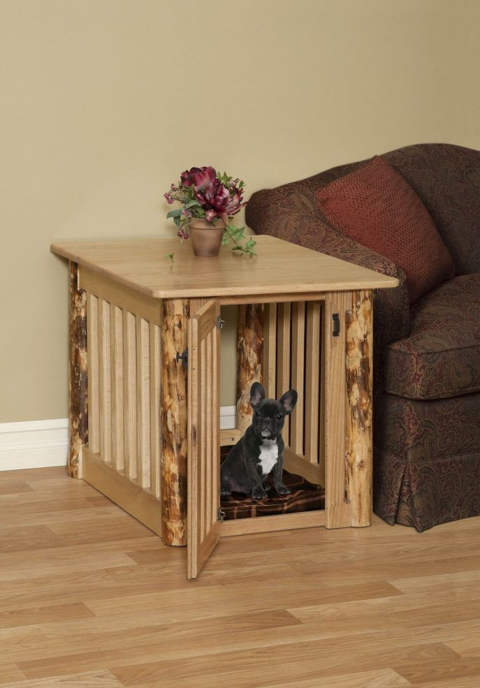 Dog Crate End Table Idea Making Dog Crate End Table Home Plan Idea