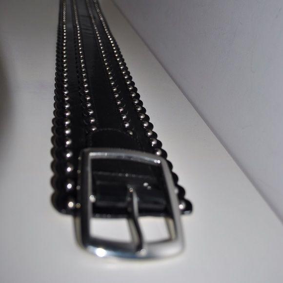 White House Black Market Black Studded Waist Belt _ White House Black Market Accessories Belts