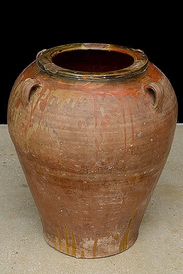 Vintage Spanish Terracota Garden Pot From Catalonia Region