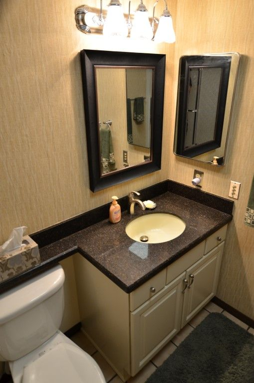 Small Bathroom Sink Ideas Wellborn Cabinets In Camden Door Style In Crème Paint