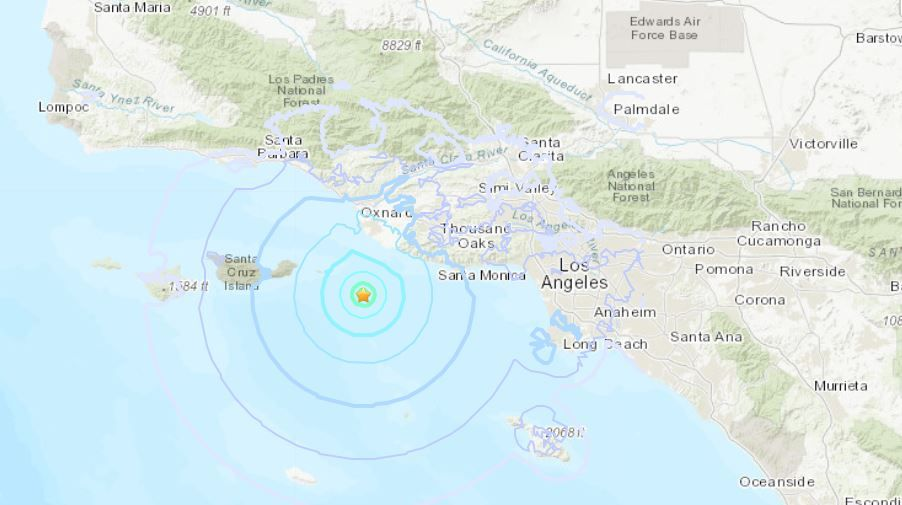 Magnitude 4 0 Earthquake Felt In Port Hueneme Los Angeles And Other California Areas In 2020 Port Hueneme Earthquake California