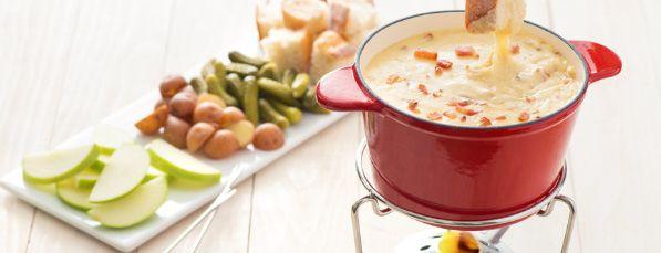 Recette Fondue au Fromage et au Bacon Fumé à L\u0027ancienne Recipes - cuisine a l ancienne