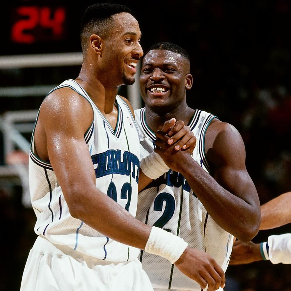 Alonzo Mourning & Larry Johnson Basketball Pinterest