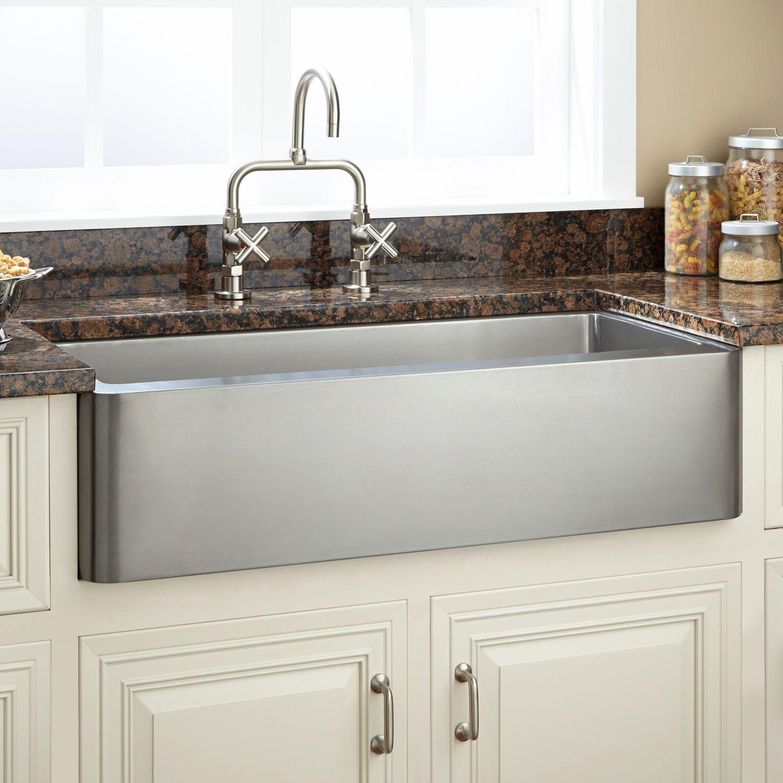 """33"""" Hazelton Stainless Steel Retrofit Farmhouse Sink  Stainless Adorable Stainless Kitchen Sinks 2018"""
