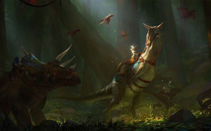 Fantasy Art Ark Survival Evolved Hd Wallpaper Desktop Background