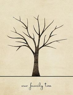 Free Tree Printable Family Craft Template Ideas Holiday More