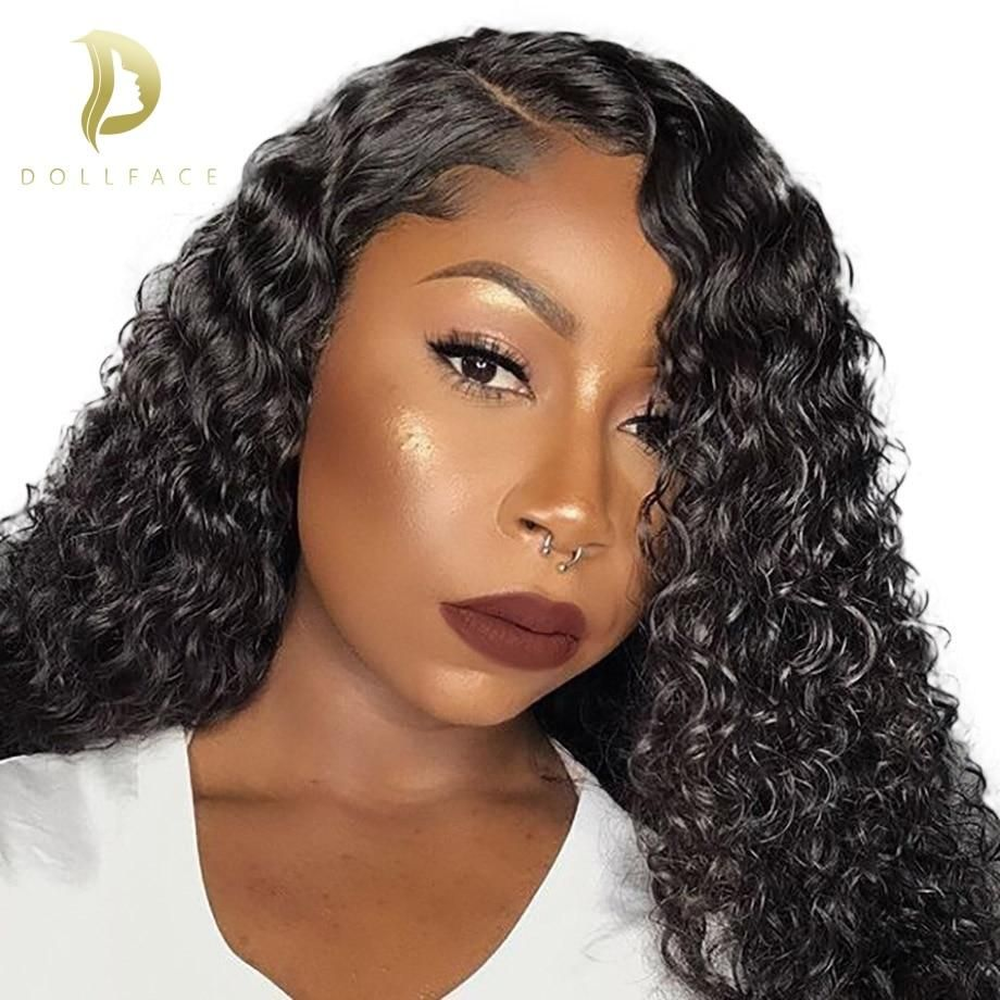 360 lace frontal wig Brazilian Curly Lace Front Human Hair Wigs For Black  Women Full and Thick Freeshipping d37f680a6d