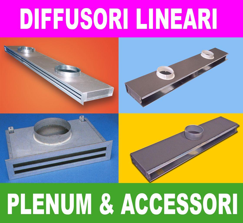 Diffusori Lineari Aria Condizionata vasta gamma di diffusori lineari a 1 , 2 o 3 feritoie
