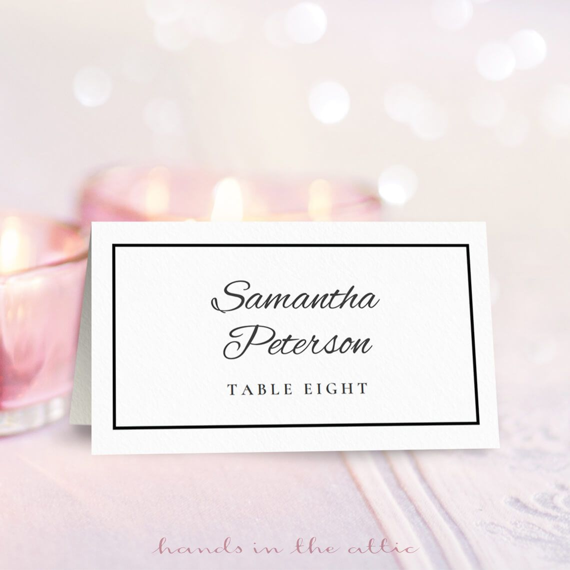 Wedding Place Card Template With Images