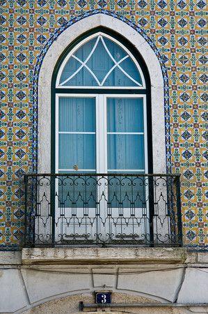Mosaicos en las casa de Alfama