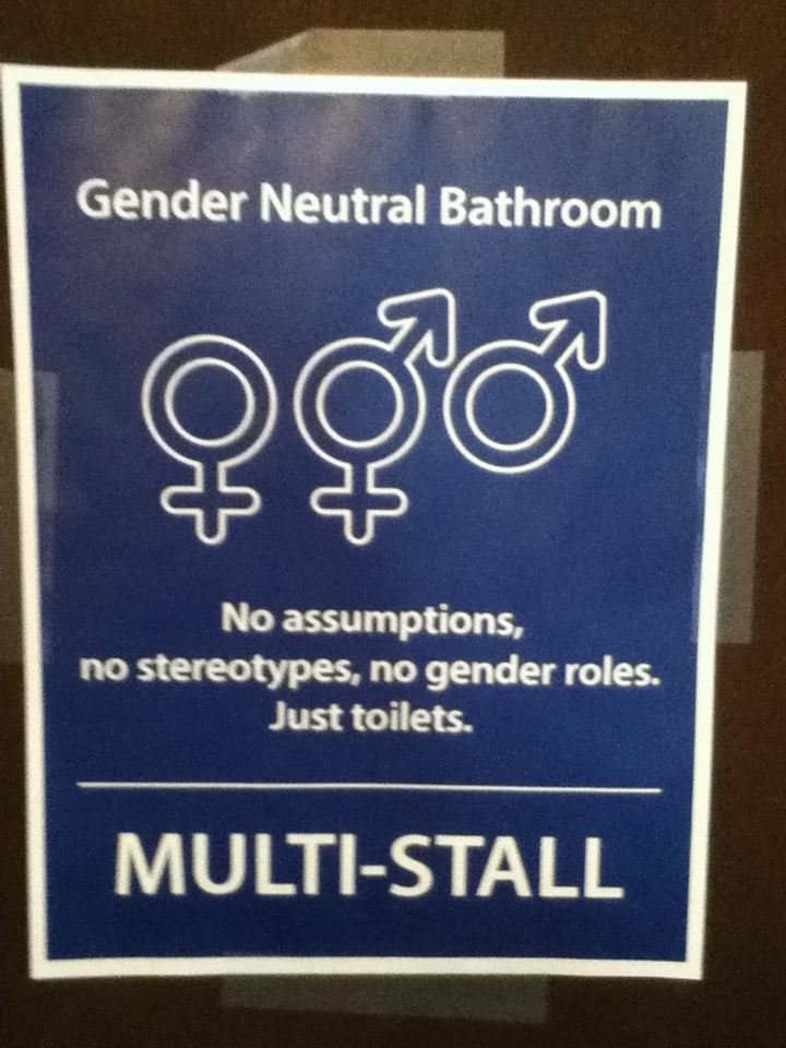 Glbt Signs These Need To Be Everywhere There Is No Reason To Have Segregated Bathrooms E Gender Neutral Bathroom Signs Gender Neutral Bathrooms Glbt Pride