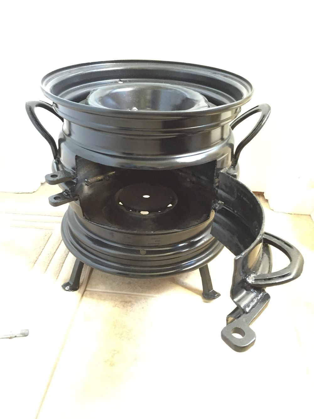 15 inch rim fire pit made by wayne things i want to make pinterest feuerstelle grill. Black Bedroom Furniture Sets. Home Design Ideas