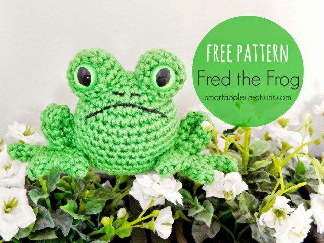 Free pattern - Fred the Frog - Manualidades Gratis | Amigurumis ...