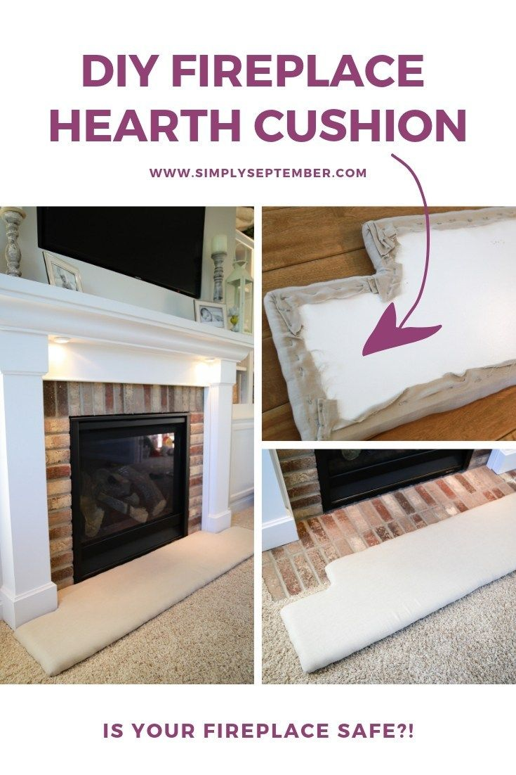 How to Baby Proof a Fireplace DIY Hearth Cushion Diy