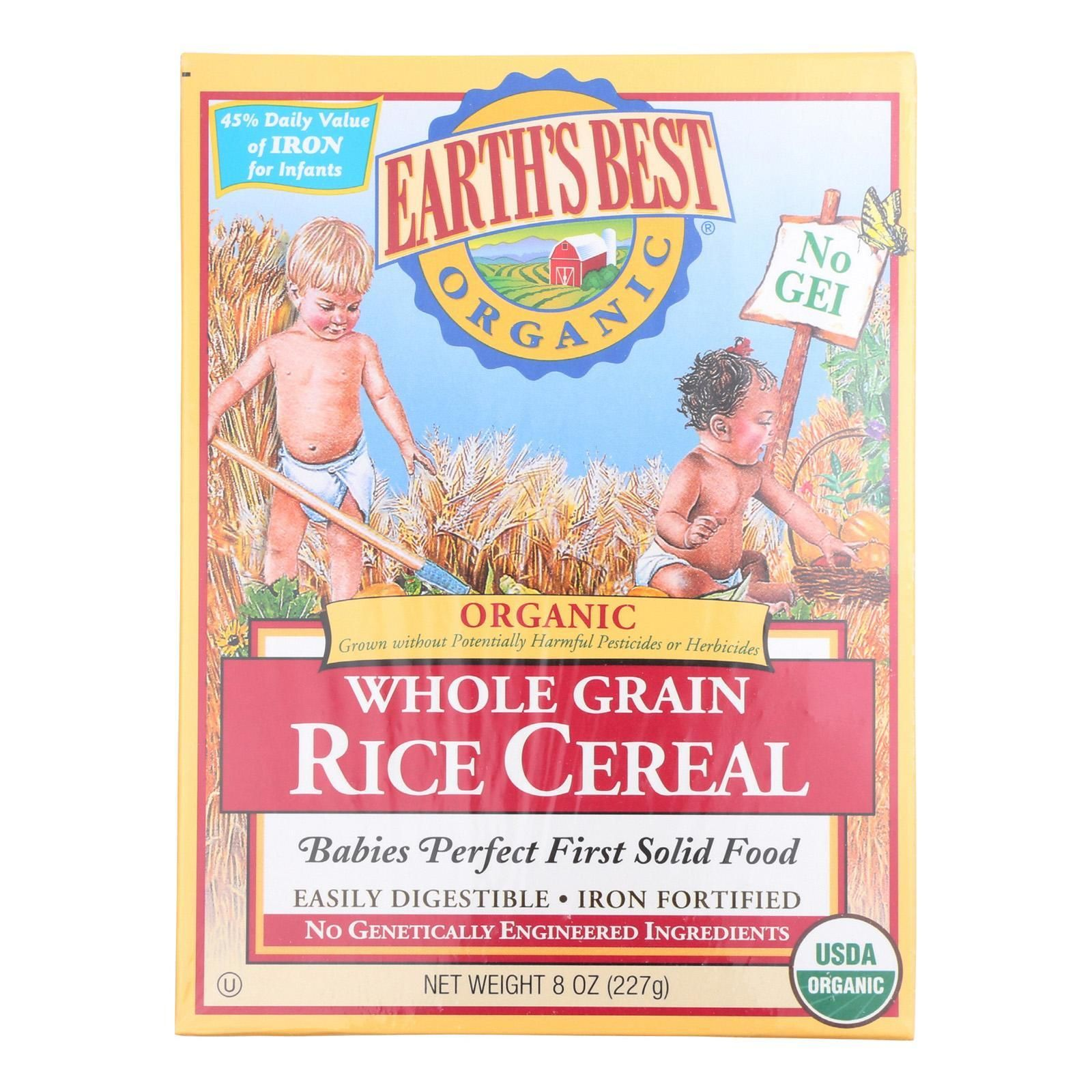 Earth's Best Organic Whole Grain Rice Infant Cereal