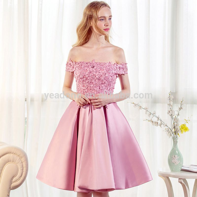 2017 Hot Sale Exquisite Lace Appliques Short Prom Dress Off-shoulder ...