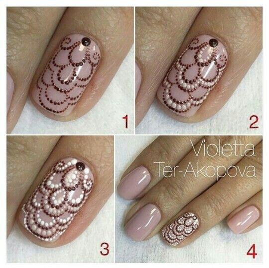 Easy accent nail art tutorials nail art designs pinterest step by step nail art design tutorial prinsesfo Gallery