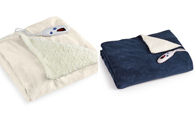 79ec62daf4a Biddeford Microplush Reverse Sherpa Heated Throws - Blankets   Throws - in  french cream