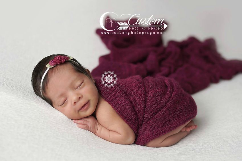 Beet pink sweater newborn baby wrap photography props for babies custom photo props llc provides