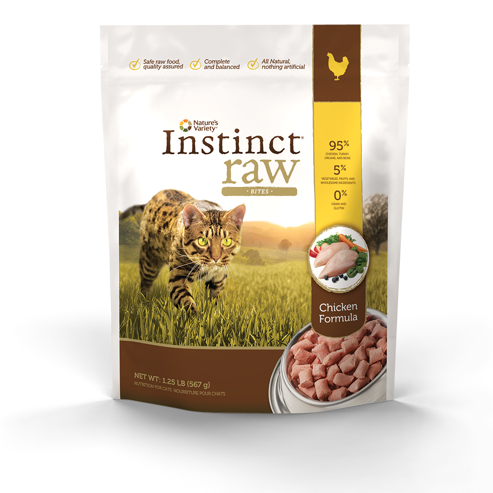 Instinct GrainFree Raw Frozen Chicken Diet Bites for