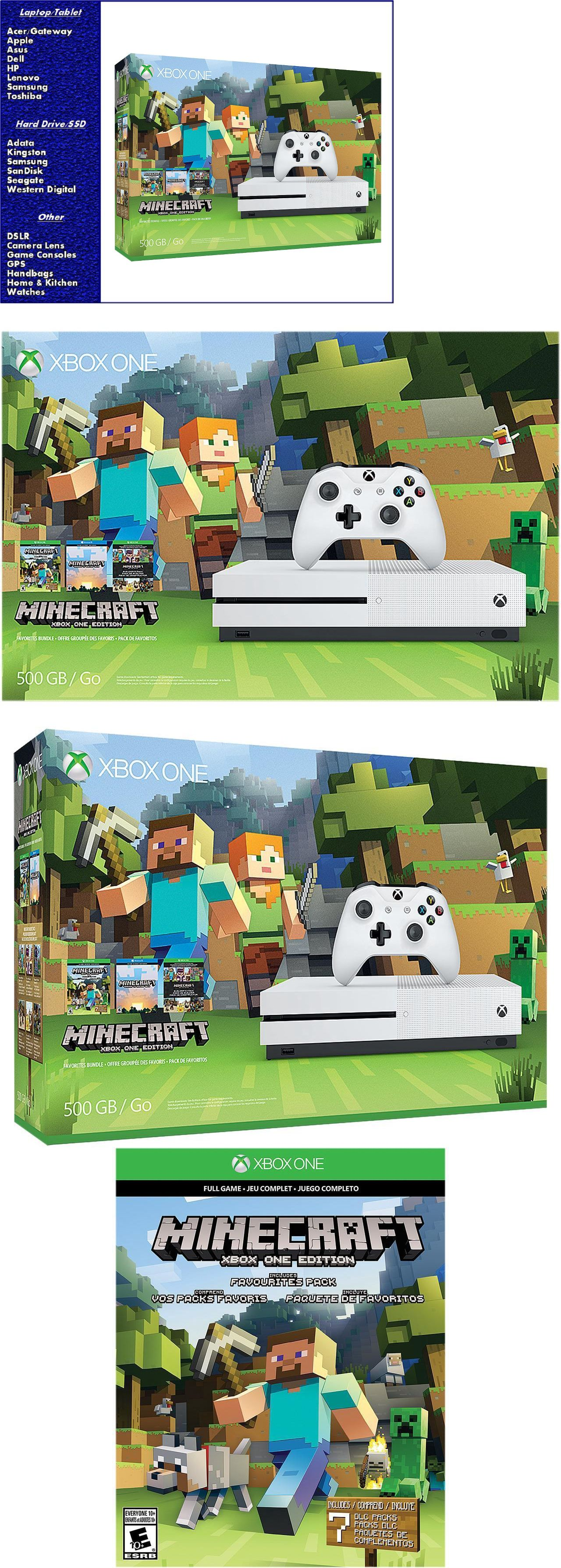 Video Gaming Microsoft Xbox One S 500gb Console Minecraft Sony Ps4 Slim 2006 500 Gb Game Fifa 17 Favorites Bundle New And