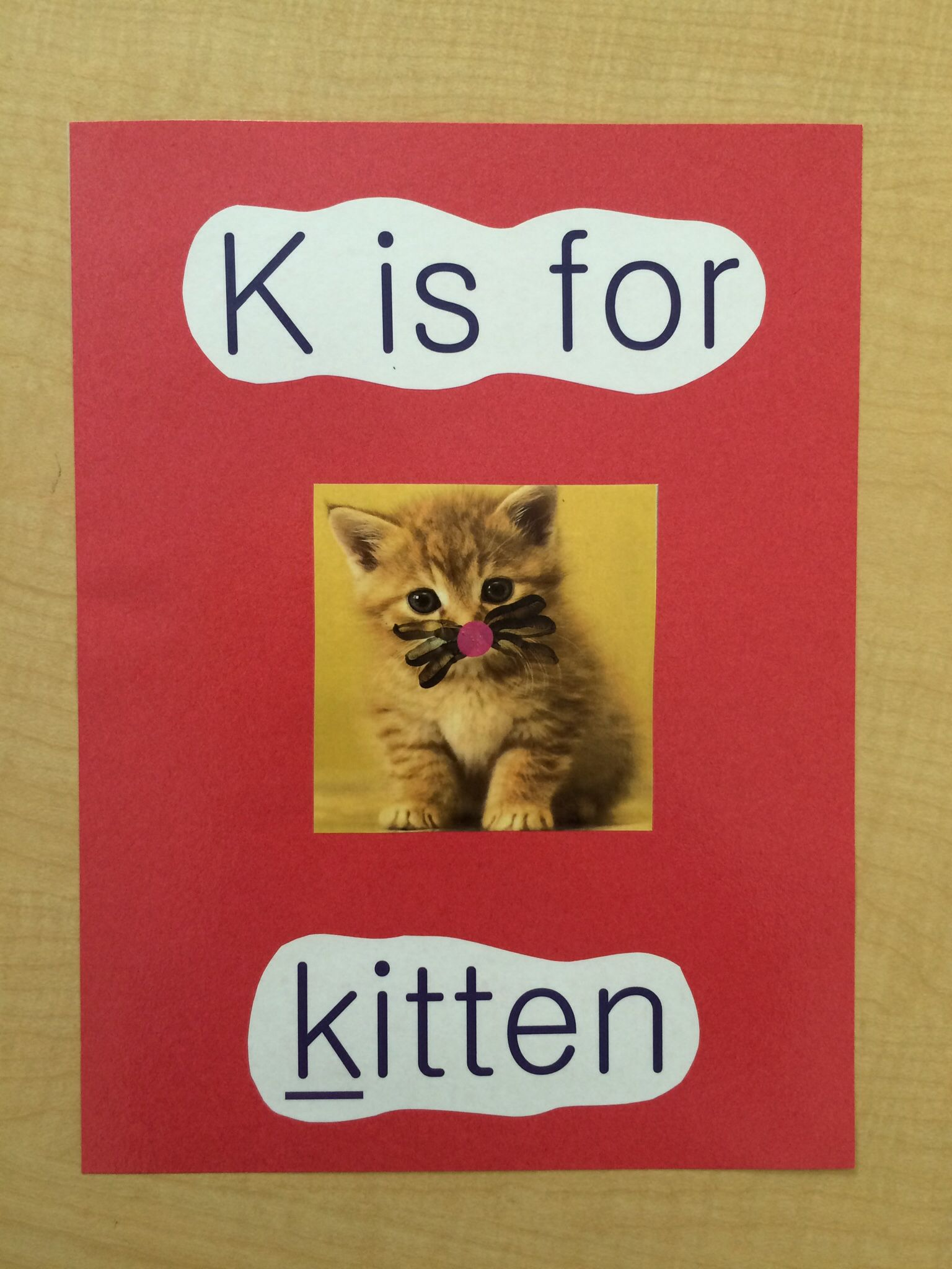 K Is For Kitten Students Used Fingers To Make Whiskers And Nose Kittens Lettering Letter K