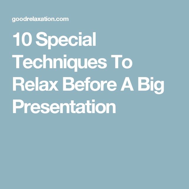 how to relax before public speaking